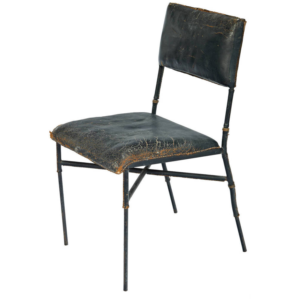 Jacques Adnet  Occasional Chair with Heavy Patina $5,500