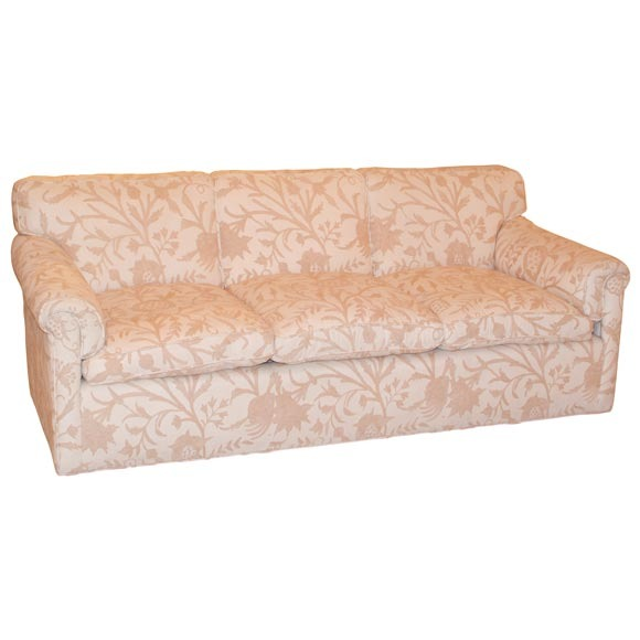Samuel Marx   Sofa in Original Crewel Work Fabric from Rosenthal Estate. $15,000