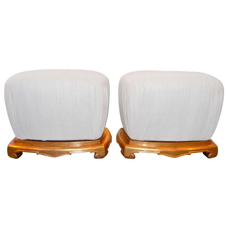 Sue et Mare   Superb Silk Poufs $22,000
