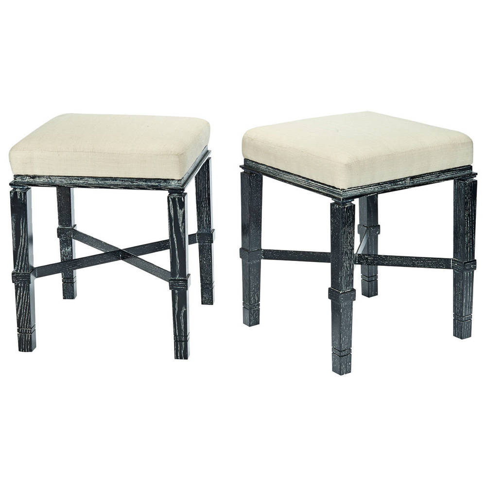 "William ""Billy"" Haines  Stools in Silver Fox Finish $12,000"