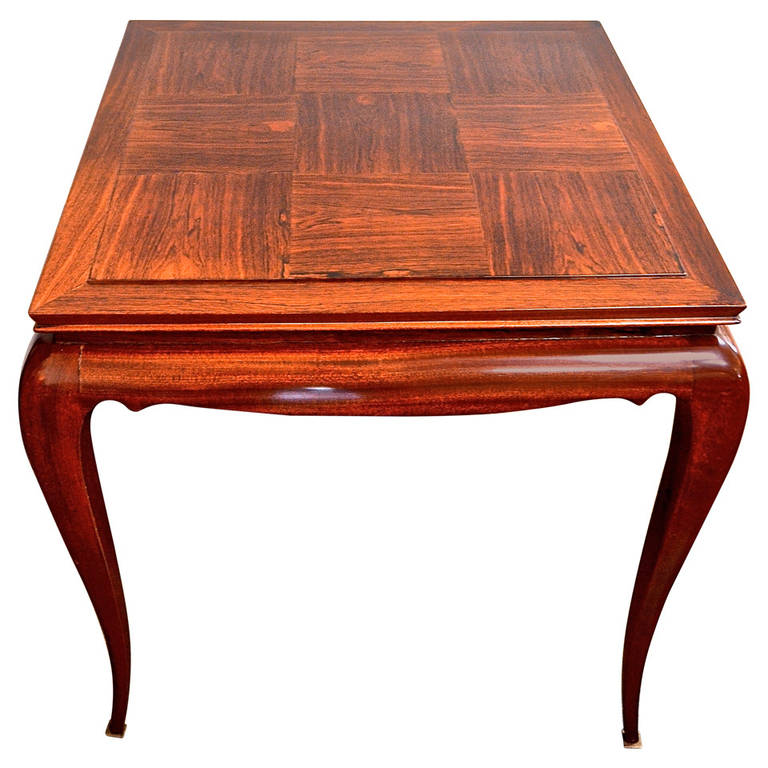 René Prou  Palisander Games Table $8,500