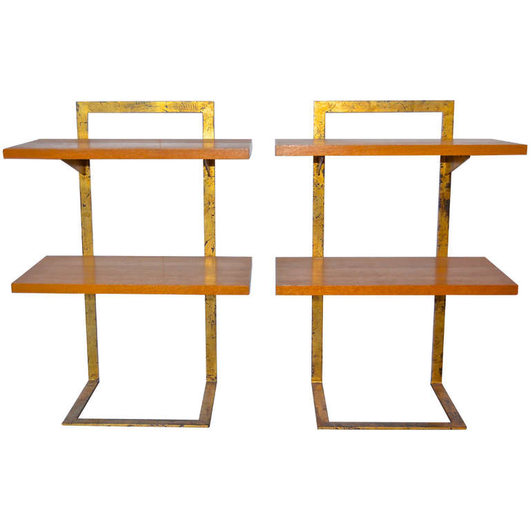 Jean Royère  Gilded Iron Side Tables $35,000