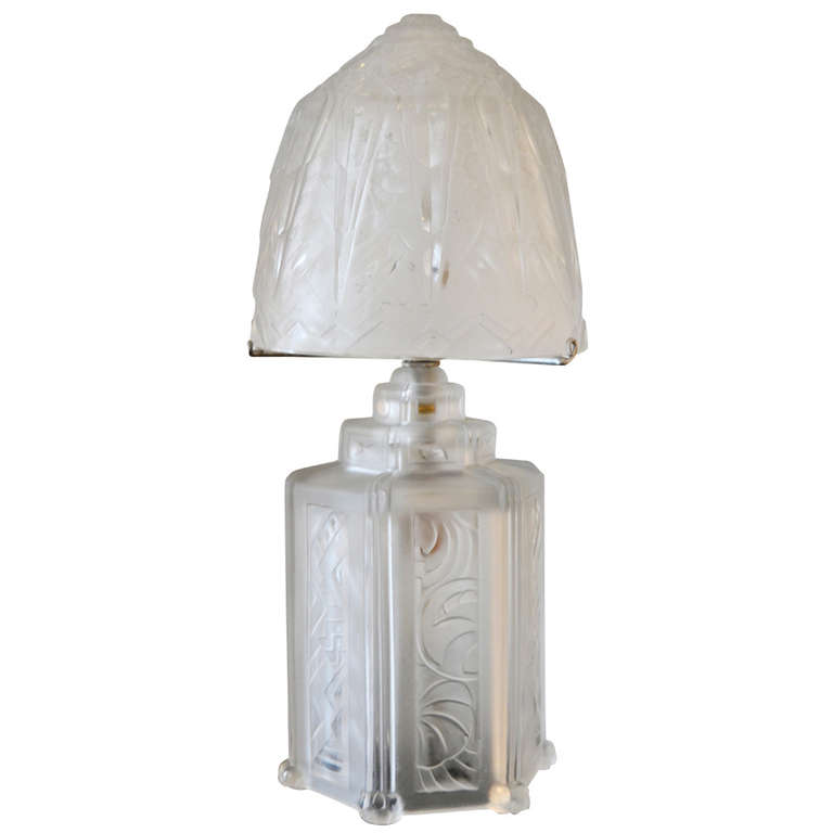 Hettier and Vincent  French Art Deco Boudoir Lamp $3,000