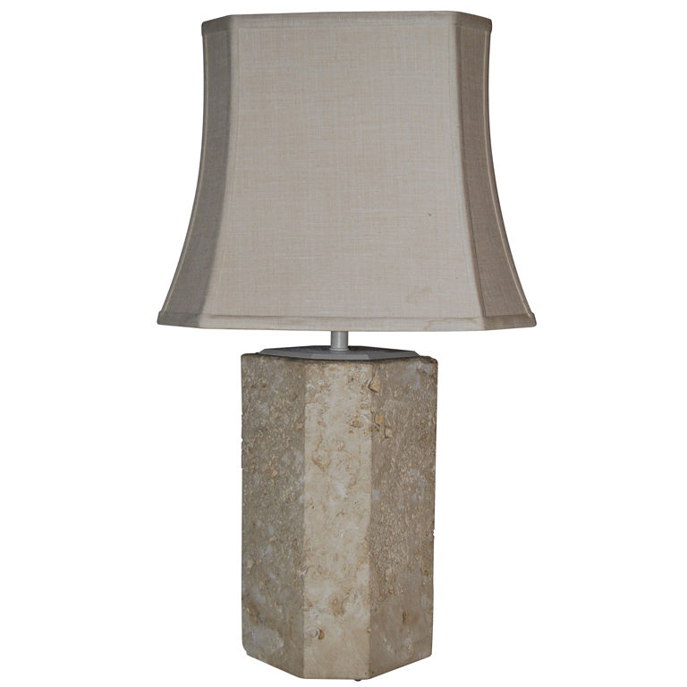 Samuel Marx  Fossilized Stone Table Lamp $8,500