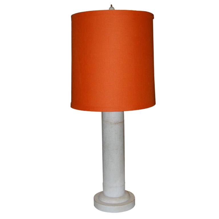 Samuel Marx  Table Lamp with Hermes Orange Shade $5,500