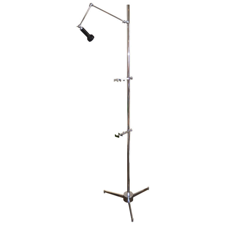 Angelo Lelli for Arredoluce  Easel Lamp  in Chrome $14,000