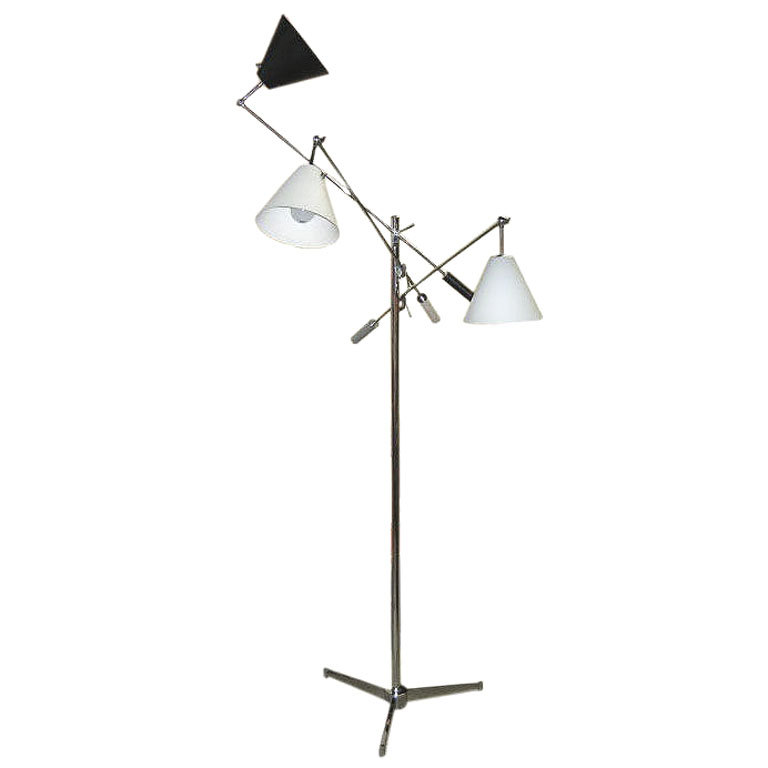 Arredoluce  Triennale Lamp-Grey Black White $12,500