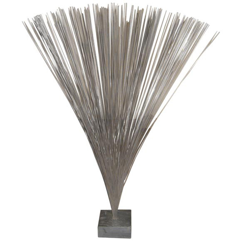 Harry Bertoia  Spray Sculpture on Slate Base $22,000