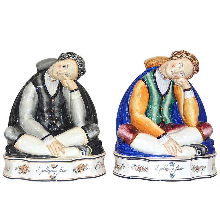 "Gio Ponti  Rare ""Il Pellegrino Stanco"" Ceramic Figures $15,000"