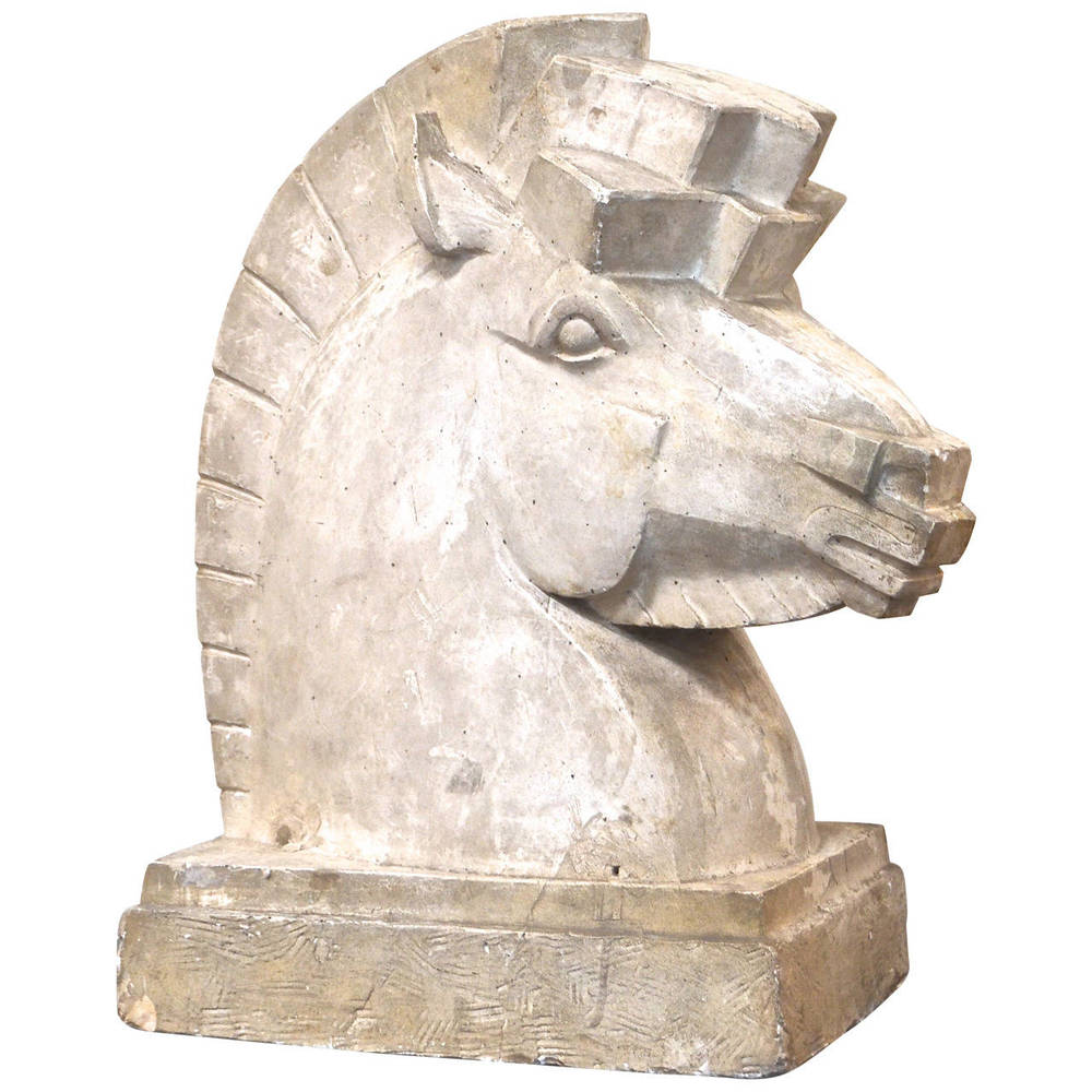 Rosemont Sears  Art Deco Plaster Horse Head Sculpture $9,500