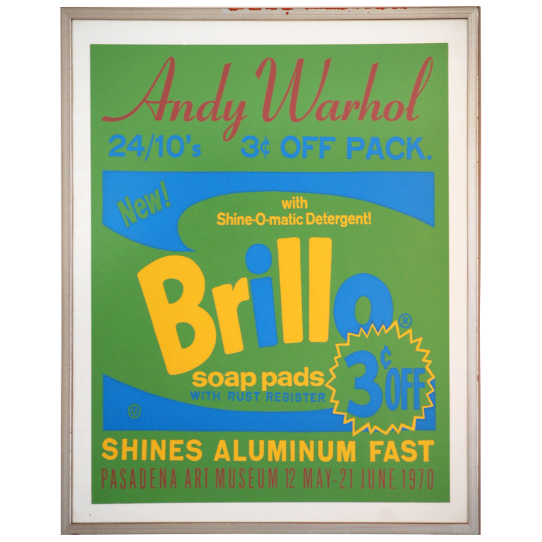 "Andy Warhol  ""Brillo"" Poster $4,000"