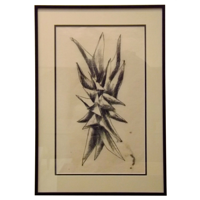 Harry Bertoia  Monotype - Charcoal Spike $3,200