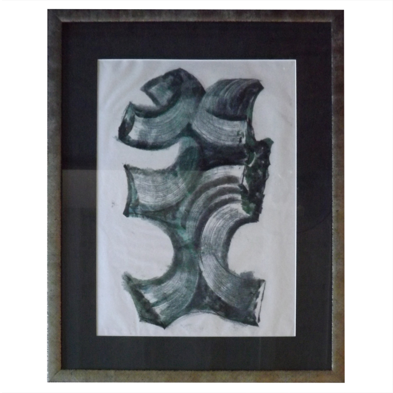 Harry Bertoia  Monotype - Green/Black Curve $6,500