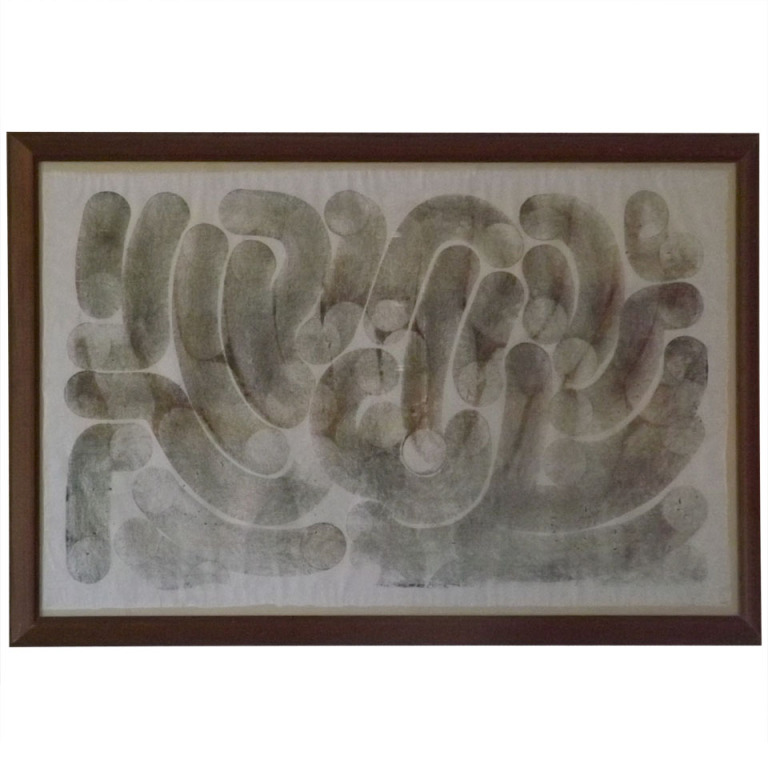 "Harry Bertoia  Monotype ""Tubes"" $8,500"