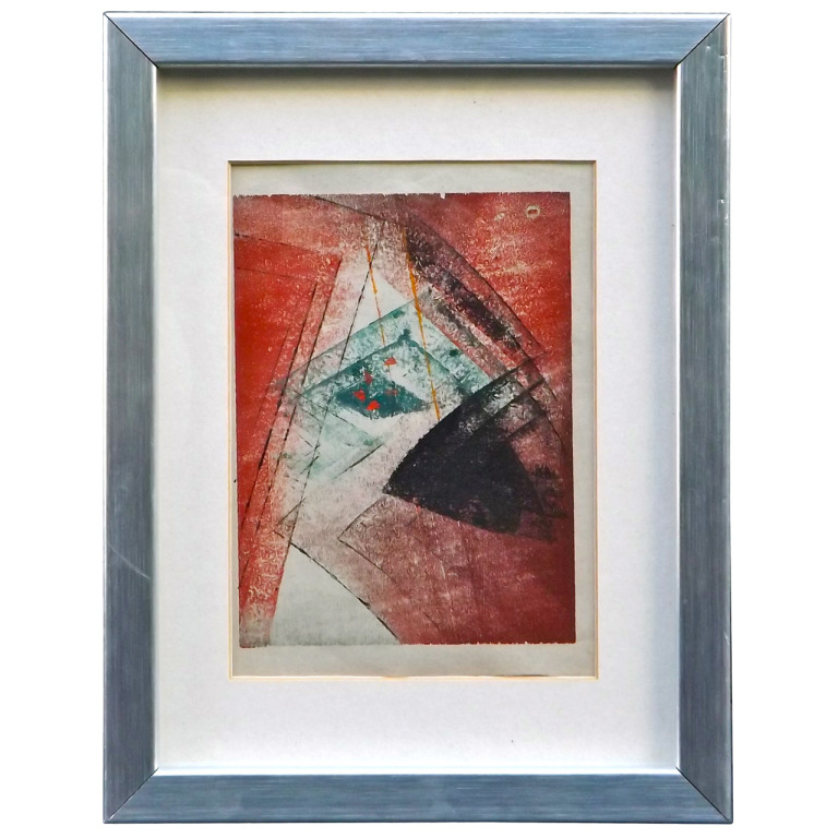 Harry Bertoia  Rare Red Monotype $4,500