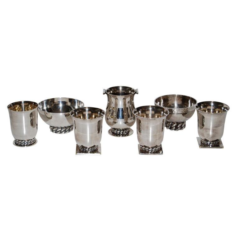 Jean Despres  Silver Bowls and Chalices $20,000