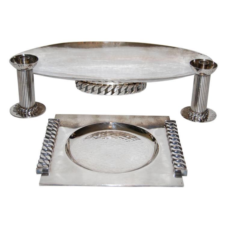 Jean Despres  Silver Tableware $22,000
