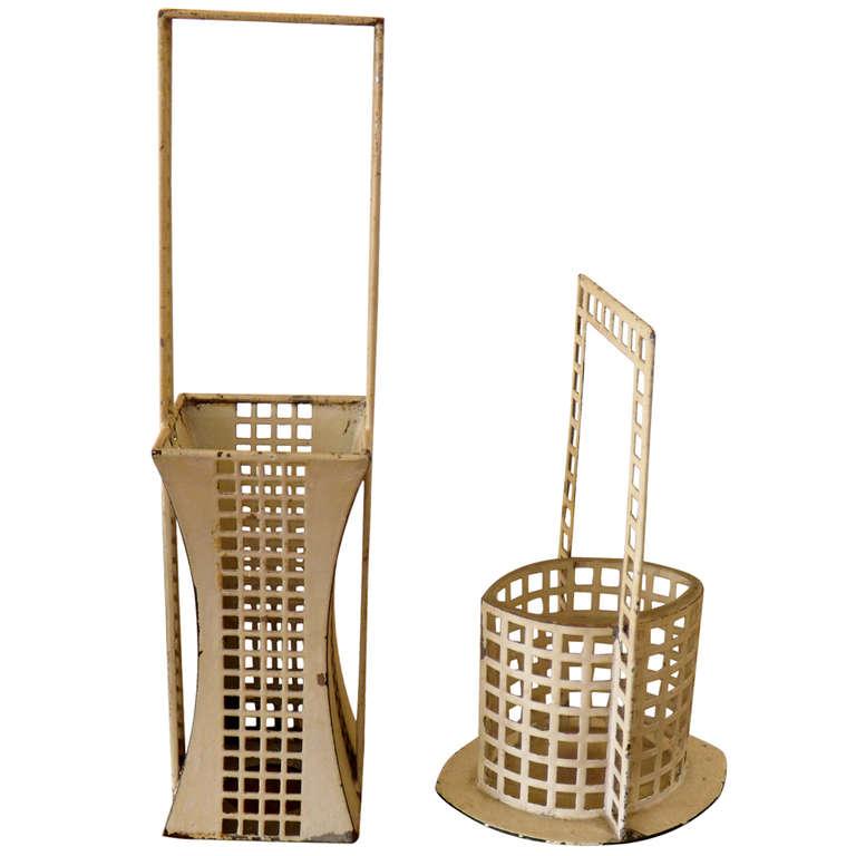 "Josef Hoffman  Wiener Werkstatte ""Glitterwerk"" Baskets $5,000"