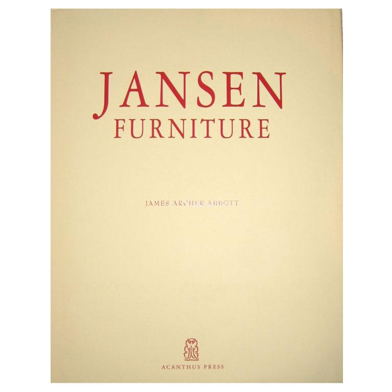 """James Archer Abbott   """"Jansen Furniture"""" Book $350"""