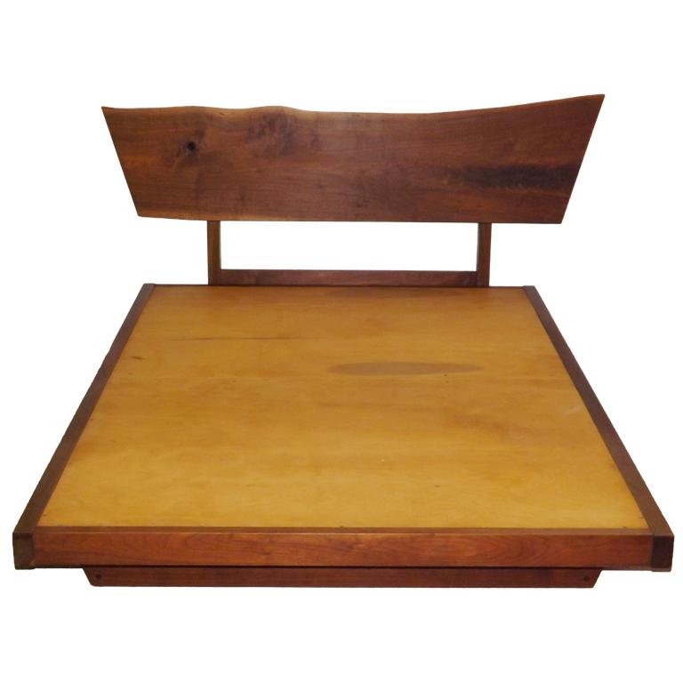 George Nakashima  Free Edge Platform Bed $30,000