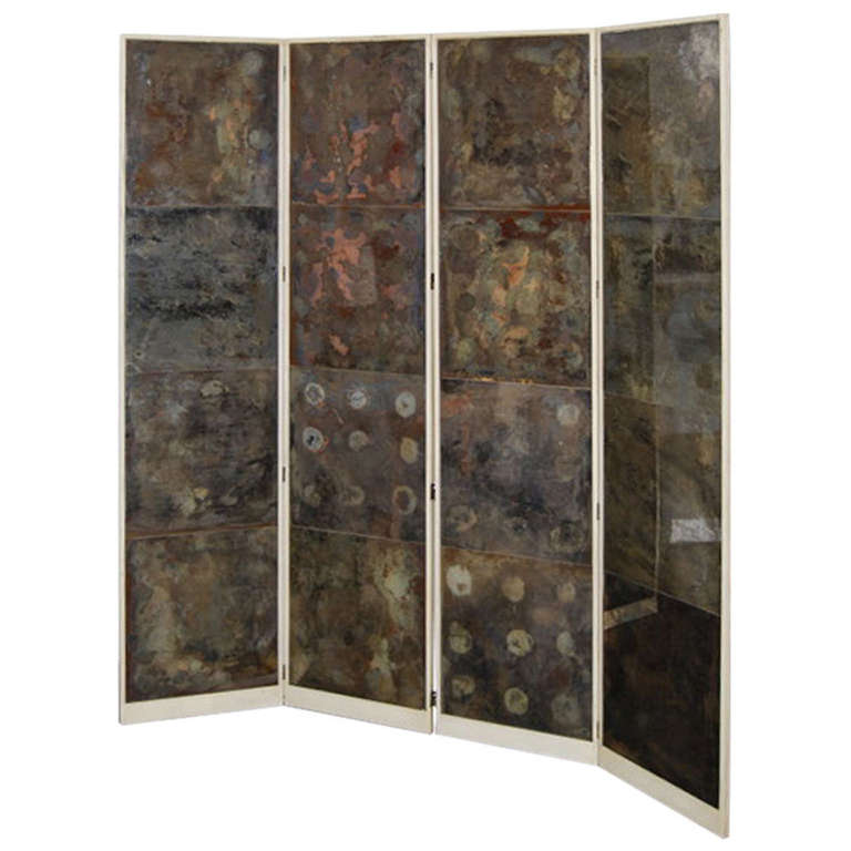 Samuel Marx  Oxidized Mirror Screen from the LeRoy Estate $45,000
