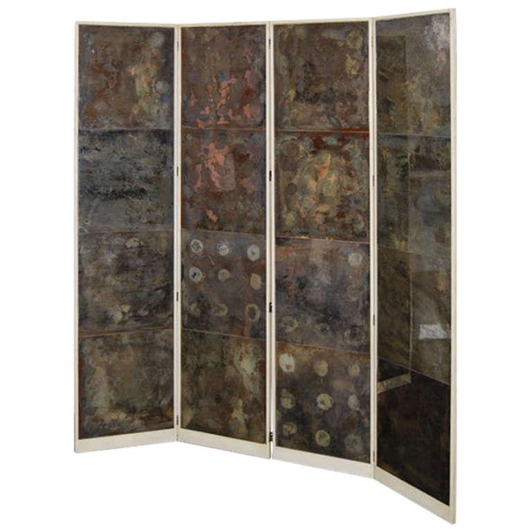 Samuel Marx  Oxidized Mirror Screen from the LeRoy Estate $45,000