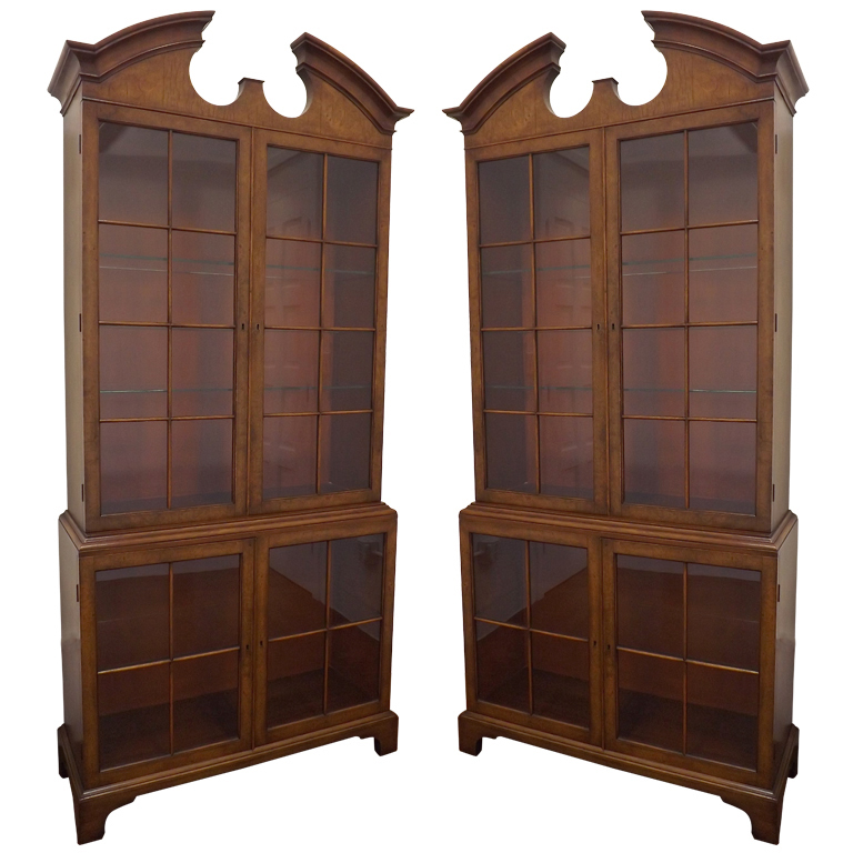 Samuel Marx   Pair of Vitrines in Carpathian Elm $55,000