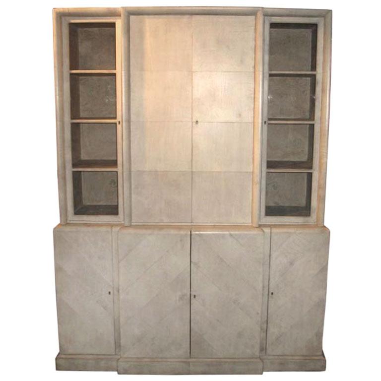 Samuel Marx  Herringbone Parchment Cabinet $85,000