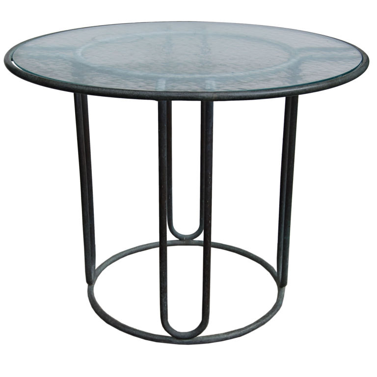 Walter Lamb   Petite Bronze Dining Table $5,500