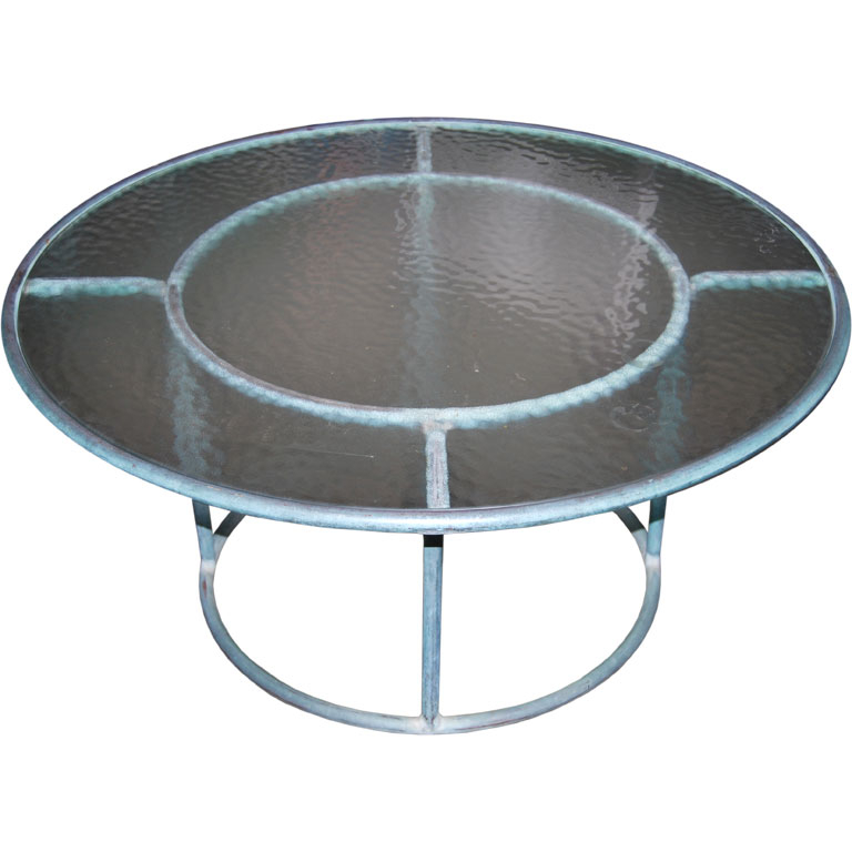 Walter Lamb   Round Bronze Cocktail Table POR