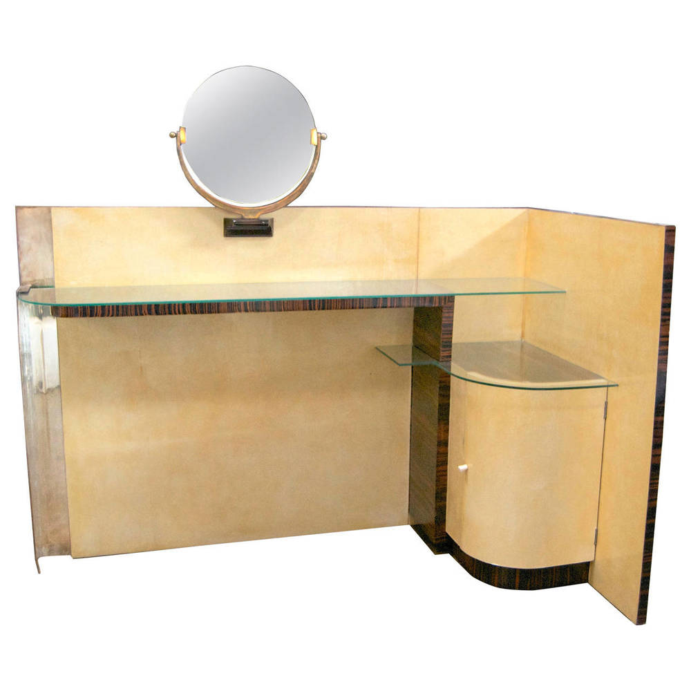 Jules Leleu  Parchment and Macassar Vanity $45,000