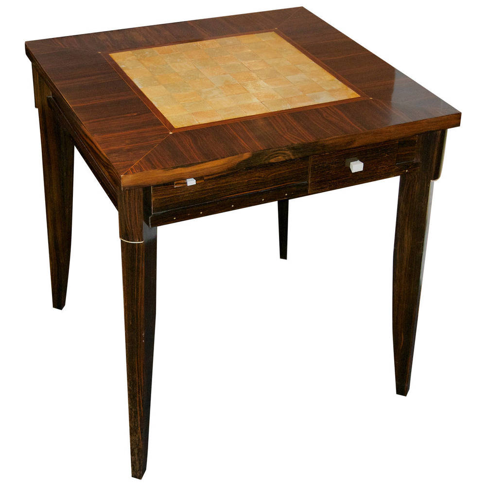 Clement Rousseau  Shagreen and Macassar Games Table $65,000