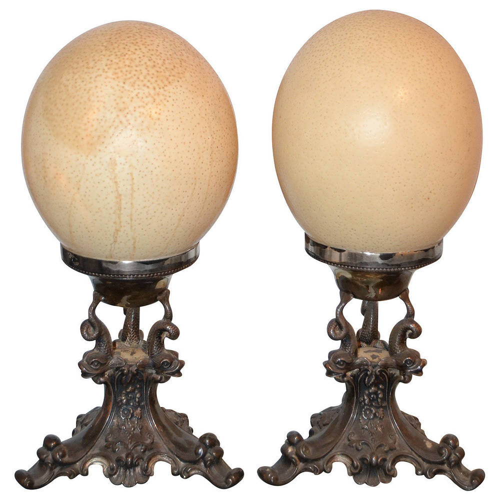 Anthony Redmile  Ostrich Egg Finials $3,800