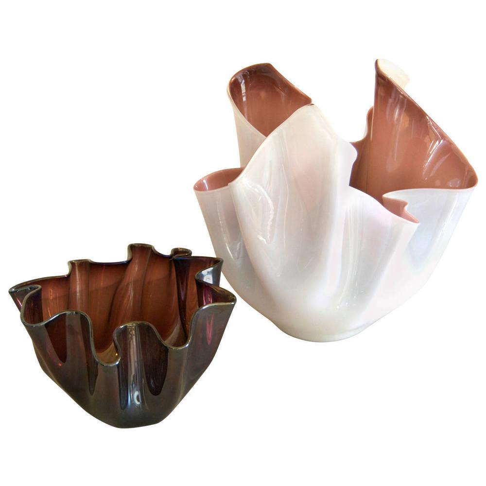 Fulvio Bianconi for  Venini  Handkerchief Vases  $6,900