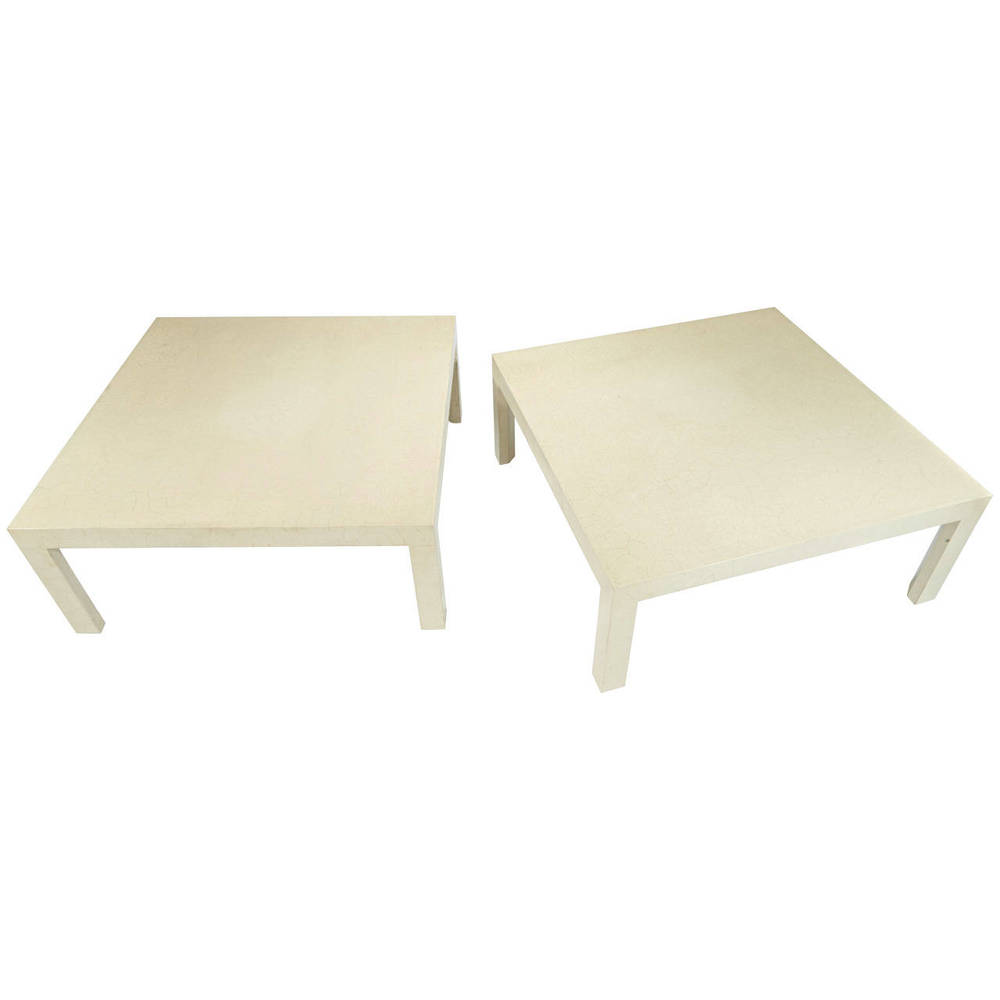 Samuel Marx  Pair of Craqueleur Low Tables $30,000