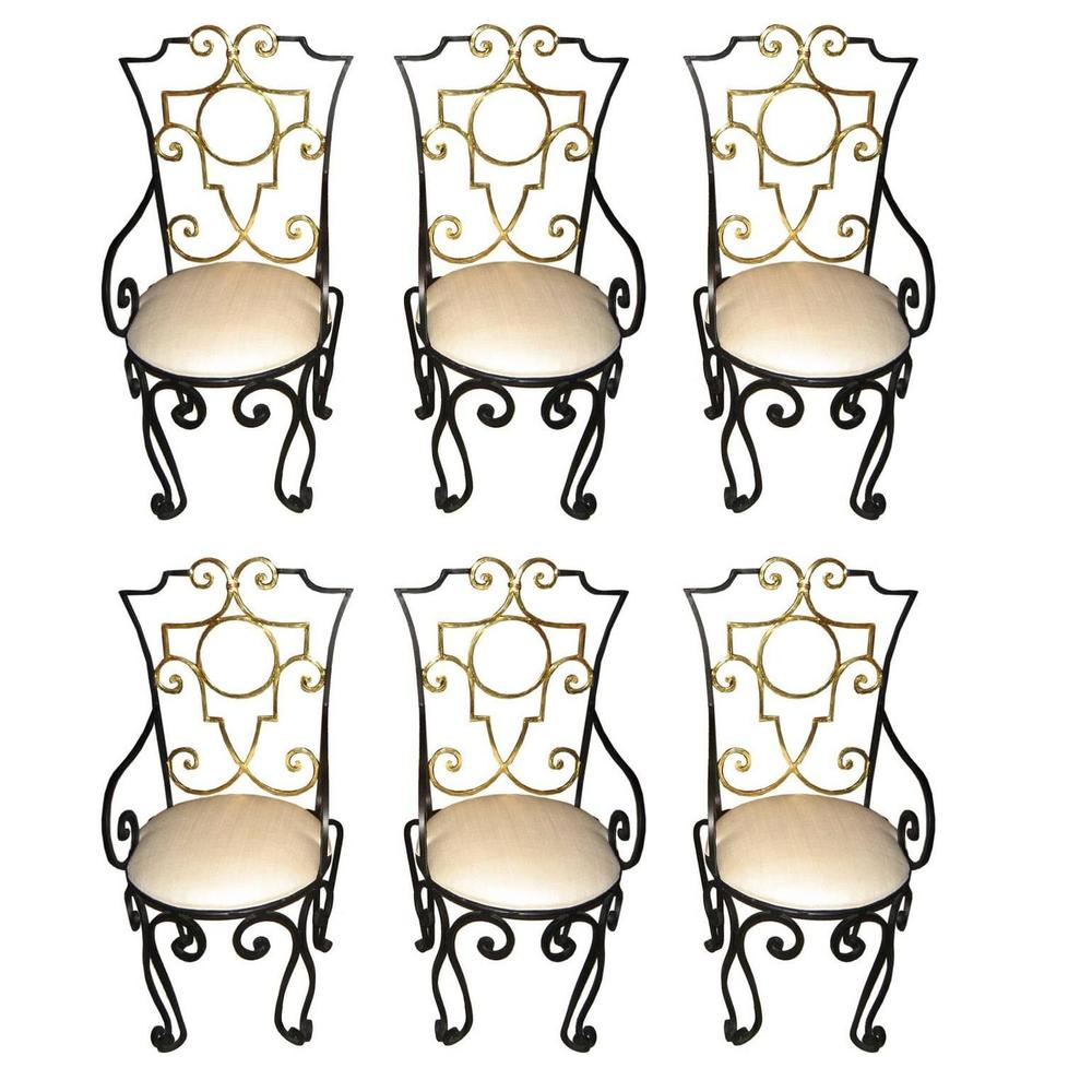 Jean-Charles Moreux  Chairs, Set of 6 $30,000