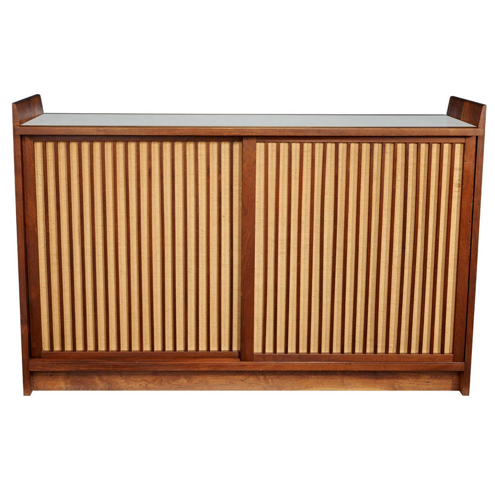 George Nakashima  Dry Bar with Pandanus Sliding Doors $28,000