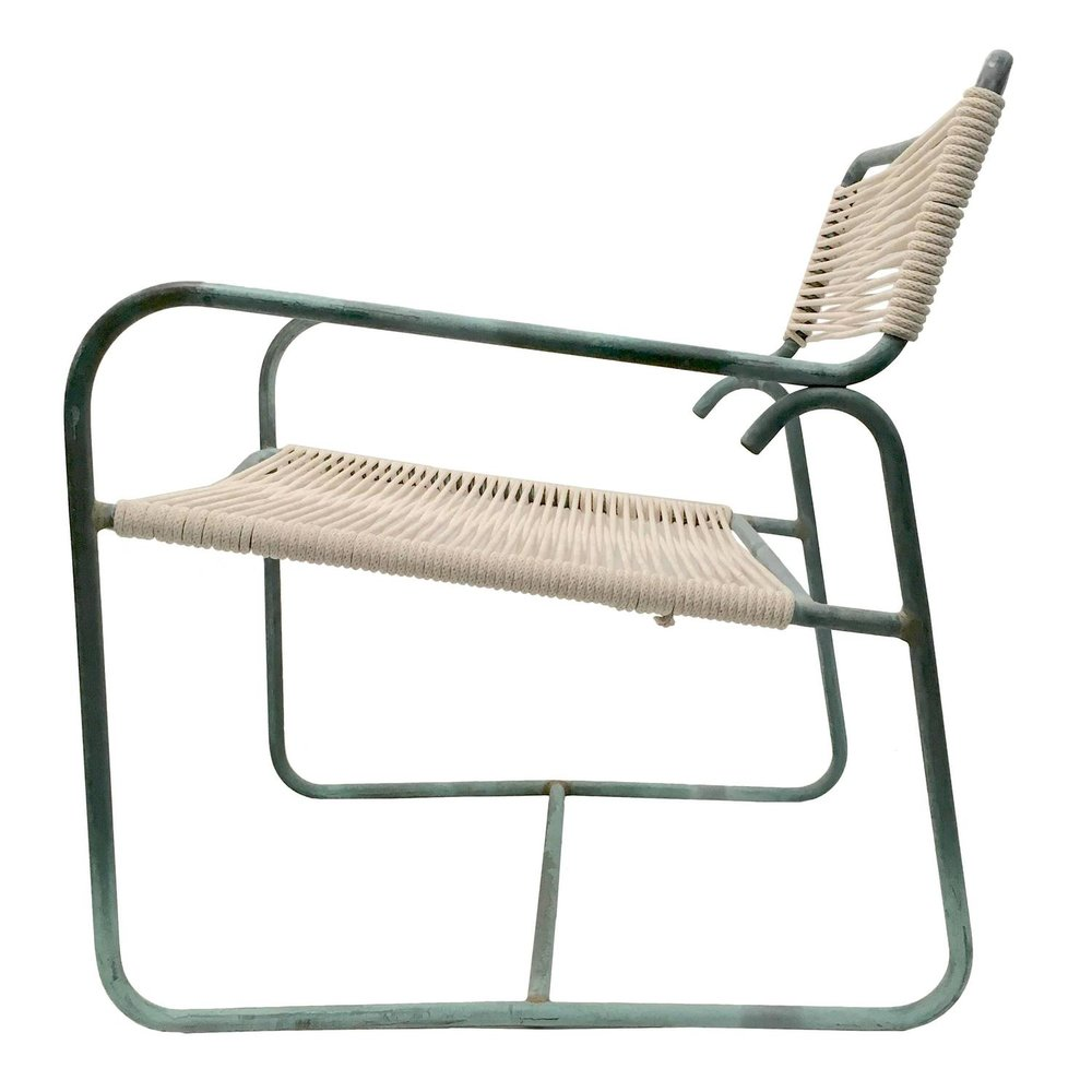 Walter Lamb   Wide Bronze Lounge Chair $4,500