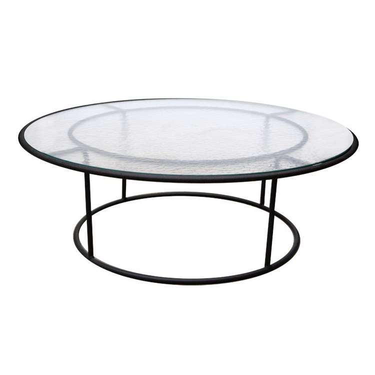 Walter Lamb  Large  Bronze Outdoor Cocktail Table POR