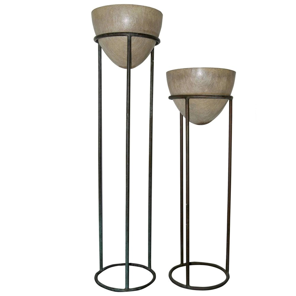 Walter Lamb  Rare Bronze Plant Stands $8,500 each