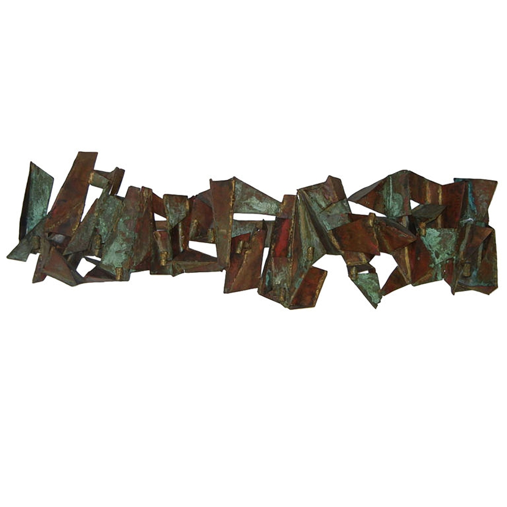 PAUL EVANS  Copper Wall Candelabra Sculpture $9,500