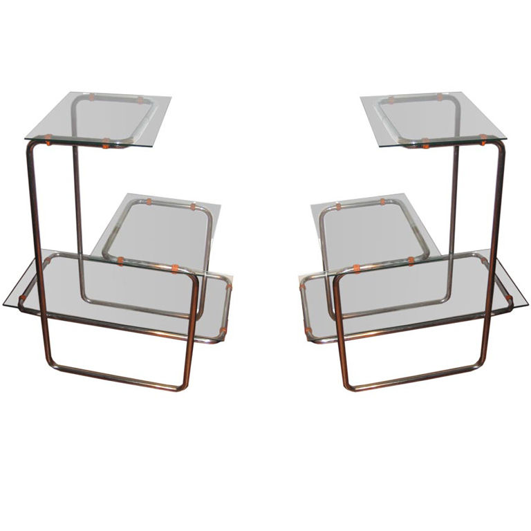 Emile Guillot  Pair of Thonet Étagères $13,000