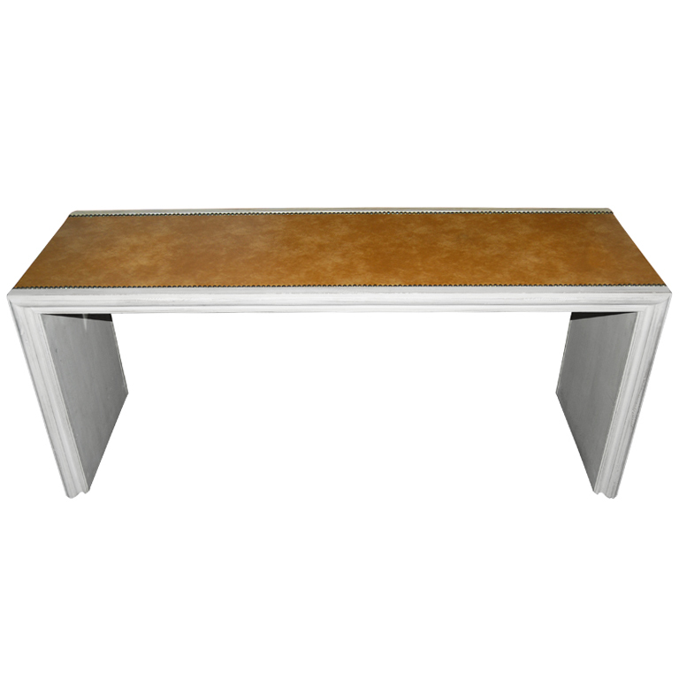 Maison Jansen  Leather Top Console $5,500