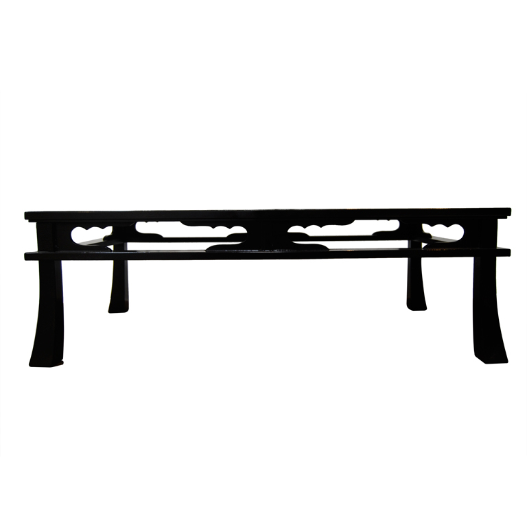 "Maison Jansen  ""Chow"" Table in Black Craqueleur Lacquer $6,900"