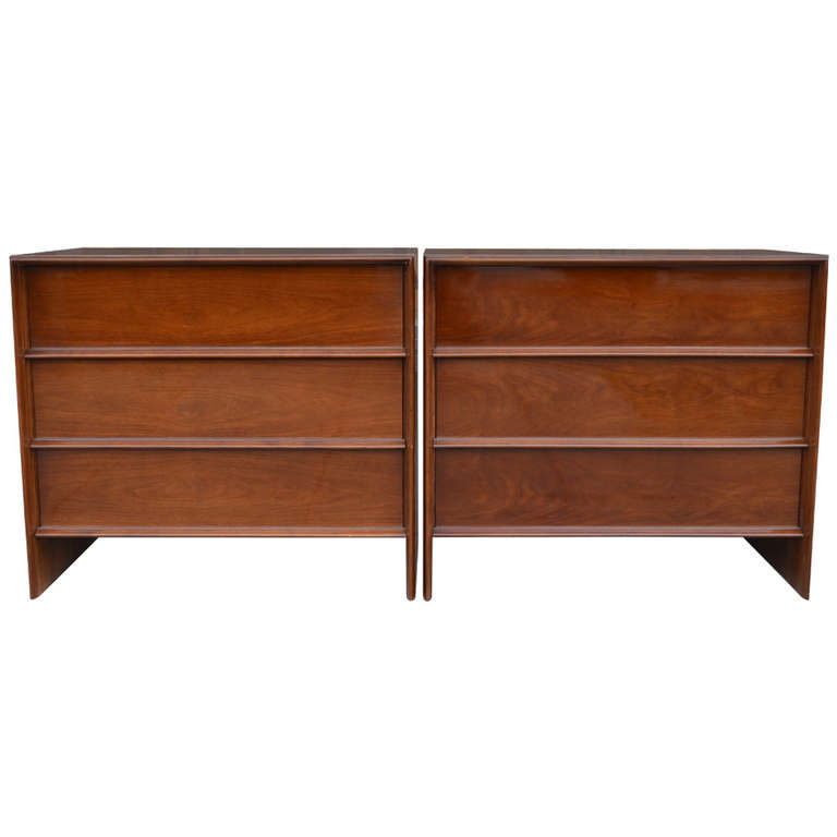 "Robsjohn Gibbings  ""Thin Line"" Pair of Chests $9,500"