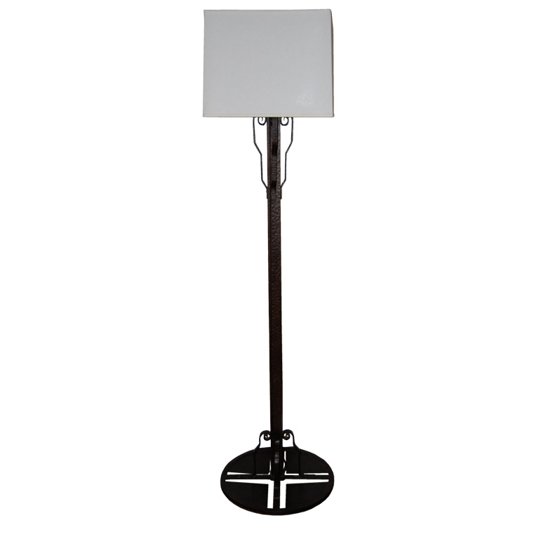 French Fer Forge Floor Lamp style of Edgar Brandt $4,500