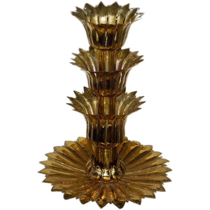 "Austrian Hammered Brass Epergne from the Film ""Auntie Mame"" $2,600"