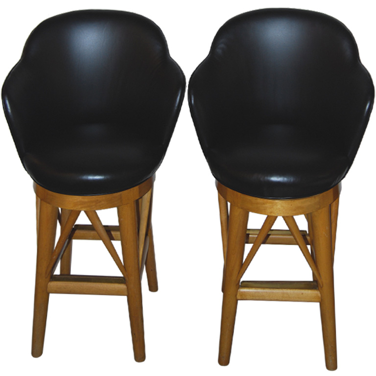 Paul Laszlo  Pair of Custom Barstools $7,500