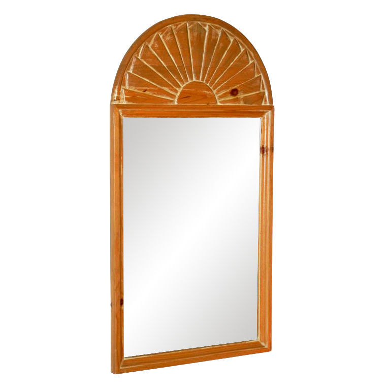 John Dickinson  Hand-Carved Pine Arched Shell Mirror $4,500