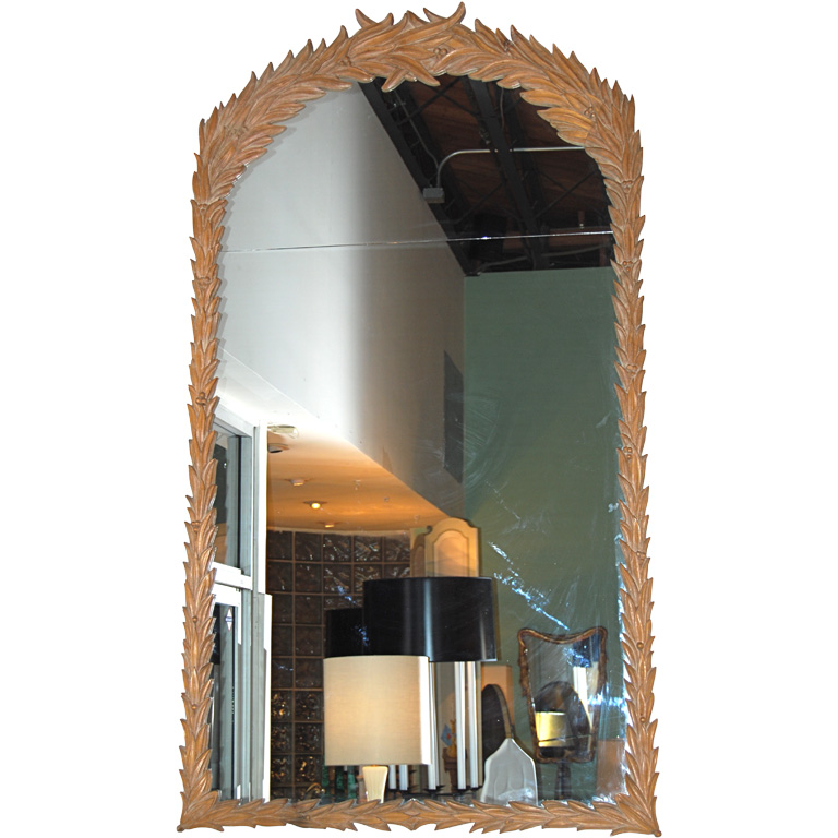 Massive Cerused and Carved Pier Mirror $8,500